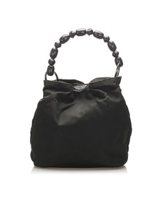 Dior Malice Nylon Handbag Black