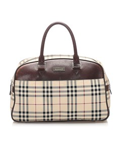 Burberry Nova Check Handbag Brown