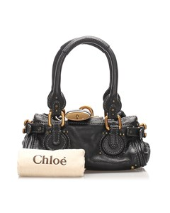 Chloe Paddington Leather Handbag Black