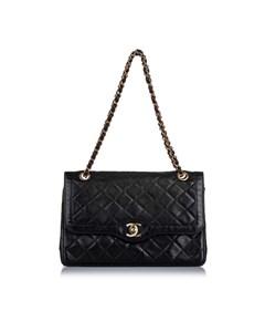 Chanel Paris Double Flap Bag Black