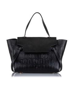 Celine Small Croc Embossed Belt Bag Black