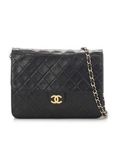 Chanel Matelasse Leather Flap Shoulder Bag Black