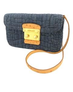 Miu Miu Denim Crossbody Bag Blue