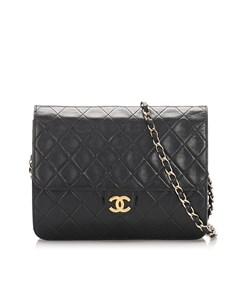 Chanel Cc Timeless Lambskin Single Flap Bag Black