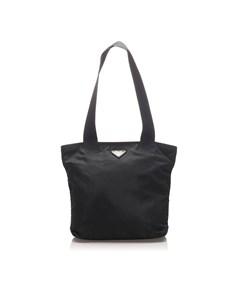 Prada Tessuto Shoulder Bag Black
