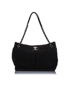 Chanel Natural Beauty Nubuck Shoulder Bag Black