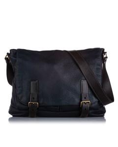 Prada Cervo Antik Crossbody Bag Blue