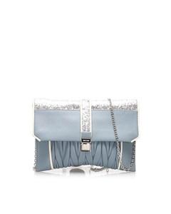 Miu Miu Matelasse Leather Crossbody Bag Blue