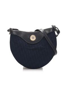 Dior Dior Oblique Canvas Crossbody Bag Blue