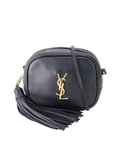 Ysl Blogger Leather Crossbody Bag Blue