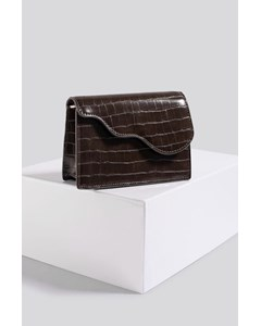 Mini Crossbody Bag Brown Croco