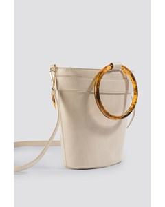 Resin Ring Bucket Bag Cream