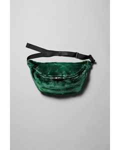Park Faux Fur Shoulder Bag Green