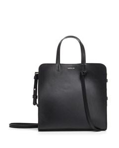 Knot Bag In Black Leather Black