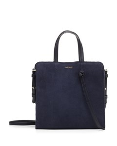 Knot Bag In Blue Marino Suede Blue
