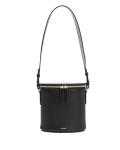 Perla Bucket Bag In Black Leather Black