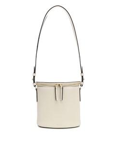 Perla Bucket Bag In Cream Leather White