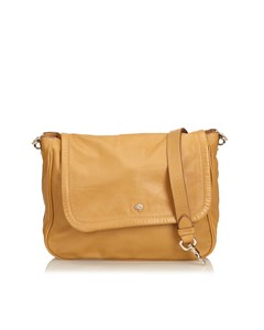 Mulberry Leather Crossbody Bag Brown