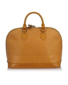 Louis Vuitton Epi Alma Pm With Strap Yellow
