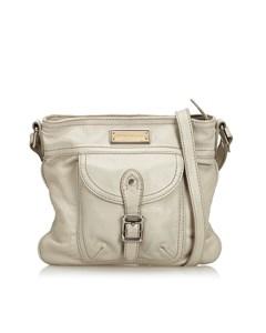 Burberry Leather Shoulder Bag White