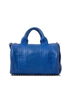 Alexander Wang Rockie Lambskin Leather Boston Bag Blue