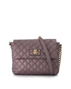 Marc Jacobs Quilted Leather Shoulder Bag Brown