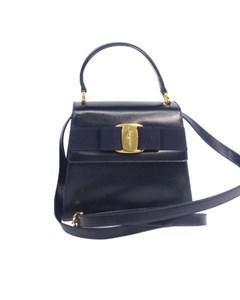 Ferragamo Vara Bow Shoulder Bag Black