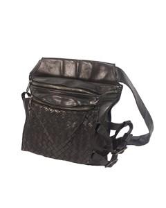 Bottega Veneta Intrecciato Calf Belt Bag Black