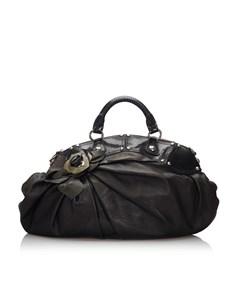 Versace Leather Handbag Black