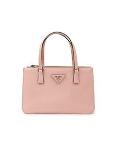 Prada Patent Leather Twin Pocket Handbag Pink