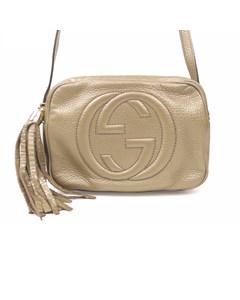 Gucci Leather Soho Disco Crossbody Bag Gold