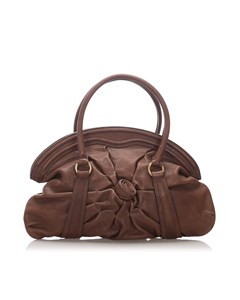 Valentino Leather Handbag Brown