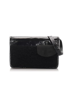 Miu Miu Shearling Handbag Black