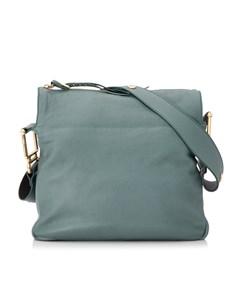 Chloe Vanessa Leather Shoulder Bag Blue