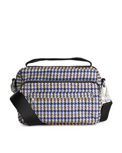Nylon Camera Bag Beige/houndstooth
