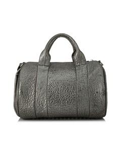 Alexander Wang Rocco Leather Boston Bag Gray