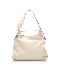 Gucci Horsebit Leather Creole Shoulder Bag White