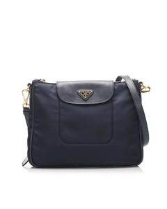 Prada Tessuto Crossbody Bag Blue