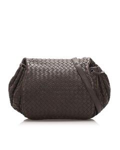 Bottega Veneta Intrecciato Leather Crossbody Bag Brown