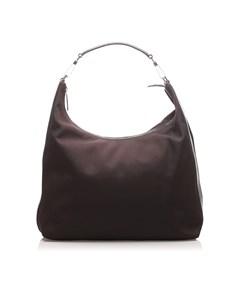 Gucci Nylon Shoulder Bag Black