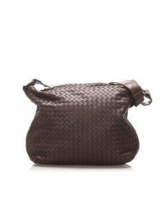 Bottega Veneta Intrecciato Shoulder Bag Brown