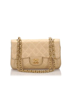 Chanel Classic Small Lambskin Leather Double Flap Bag Brown