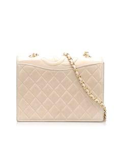 Chanel Matelasse Lambskin Chain Crossbody Bag Brown