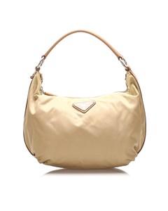Prada Tessuto Shoulder Bag Brown