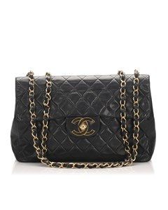 Chanel Maxi Classic Lambskin Single Flap Bag Black