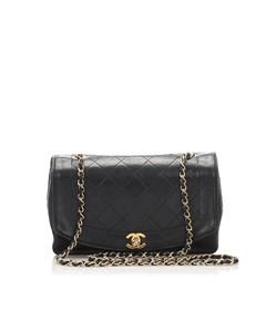 Chanel Diana Flap Crossbody Bag Black