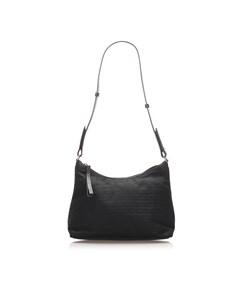 Prada Canvas Shoulder Bag Black