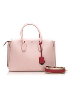 Mcm Milla Leather Satchel Pink