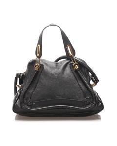 Chloe Paraty Leather Satchel Black