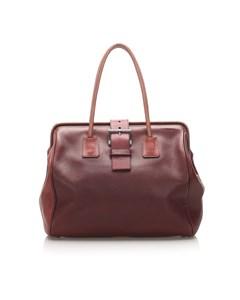 Prada Leather Tote Bag Brown